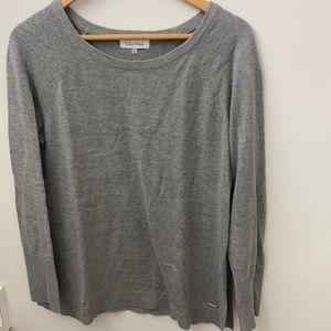 Calvin Klein grey sweater both side slits open